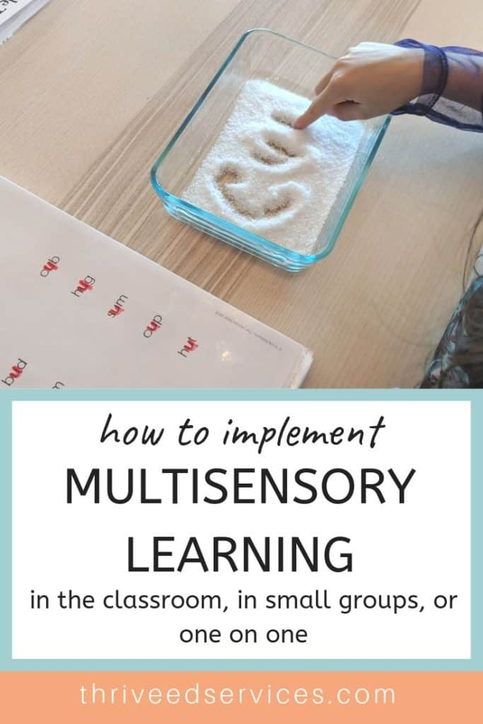 How to implement multisensory learning for struggling readers into your classroom, small group instruction, or one on one.