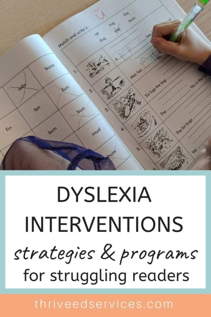dyslexia interventions and programs - reading interventions for struggling readers