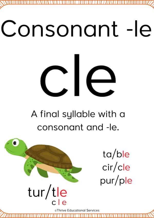 How To Teach The Consonant -le Syllable