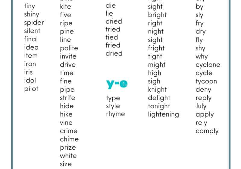 long i word list