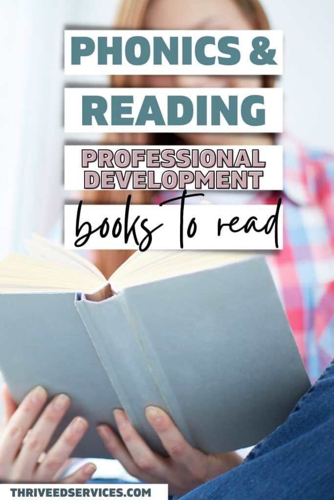 phonics and reading professional development books to read pin image